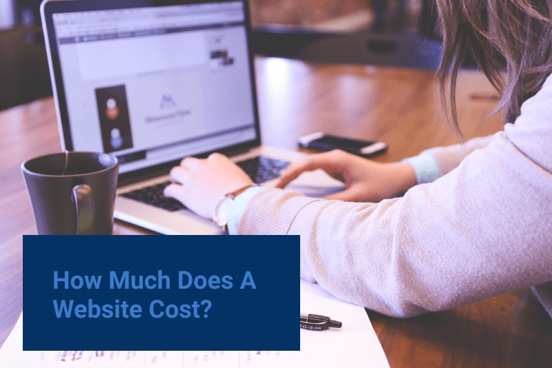 how much does a website cost. person typing on laptop