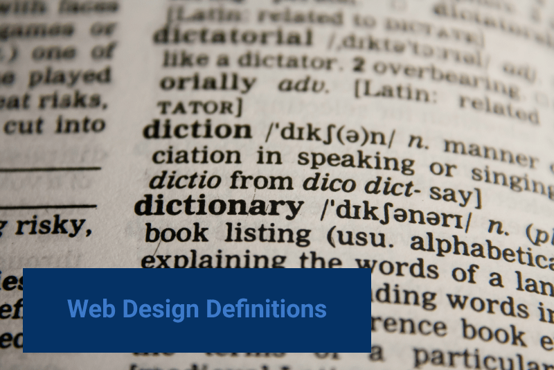 web design cost definitions. dictionary.