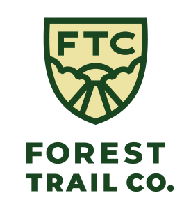 custom logo design san antonio. forest trail co logo