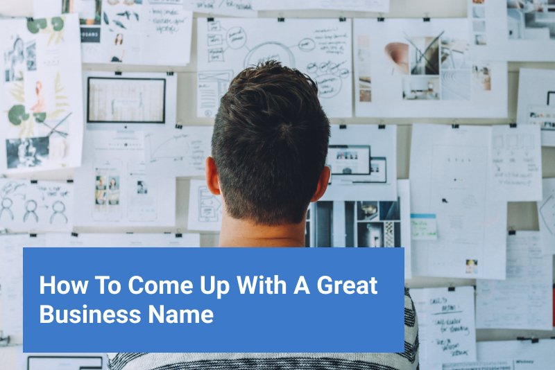 man looking at whiteboard. how to come up with a business name